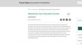 Wheelchair User Hotel Bed Transfer Solution
