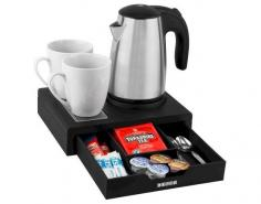 Kensington Compact Welcome Tray - Black (With 0.6L Kettle)