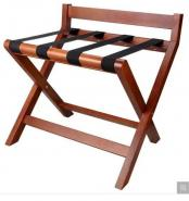 Wooden Luggage Rack with 4 Durable Straps