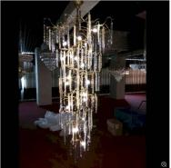 Modern Crystal Copper Chandelier Lamp Lighting for Hotel Project