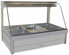 Roband C24 Double Row Hot Food Bar Curved Glass w1355mm