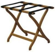 Deluxe Curved Leg Folding Luggage Rack by Wooden Mallet, LR3 - Stock #95120
